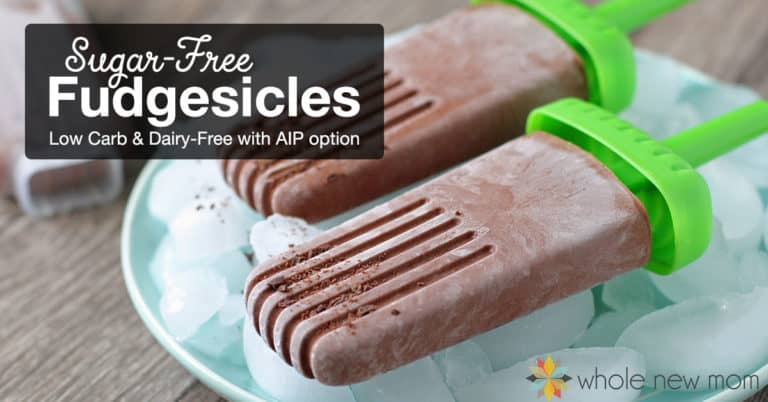 Sugar-free Fudgesicles | Dairy-free Fudgesicles