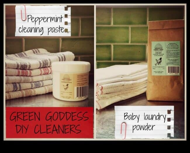 "Get Your Green Cleaning On! DIY Peppermint Cleaning Paste and Baby Laundry Powder--Brought to you from ""Down Under."""