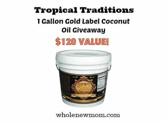 Tropical Traditions Coconut Oil Giveaway
