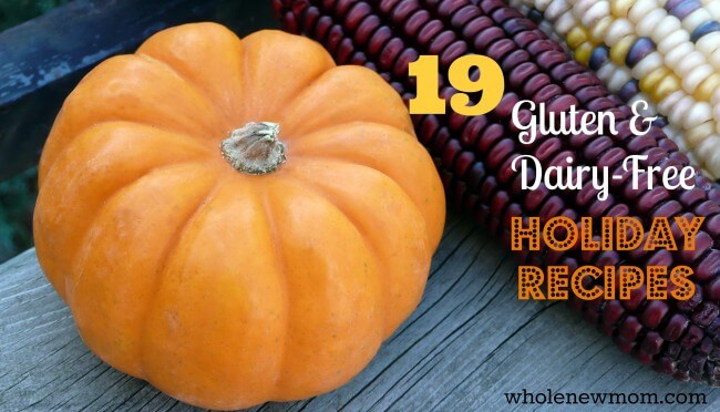 19 Fabulous Gluten and Dairy-Free Whole Food Recipes! This line up is great for those with special dietary needs so they can enjoy traditional Holiday Fare.