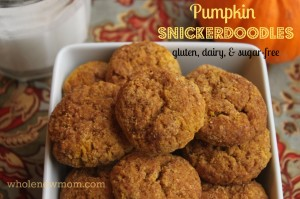 Pumpkin Snickerdoodle Cookies! Gluten, Dairy, Egg, and Sugar Free!