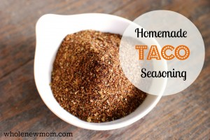 Homemade Taco Seasoning! Ditch the overpriced teensy packets with all kinds of chemical nasties--whip up this simple yummy seasoning instead!