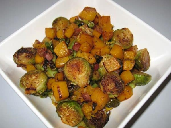Pancetta, Sprouts, and Squash