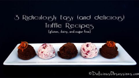 Easy Chocolate Truffles - Vegan Truffles - Dairy and Sugar Free Chocolates you can Easily Make at Home!