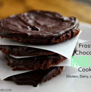 Chocolate Mint Cookies! These vegan cookies are gluten-free, whole grain, and deeelish!