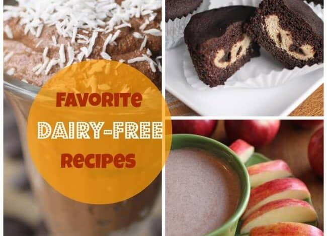 My son is deathly allergic to dairy so we've been cooking and baking dairy free for a long time. Here are some fabulous dairy free recipes that we love including yummy dairy free cheesecake filled cupcakes!