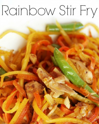 Rainbow Stir Fry - Grain free! And a GREAT way to get loads of veggies into your kiddos' diet!