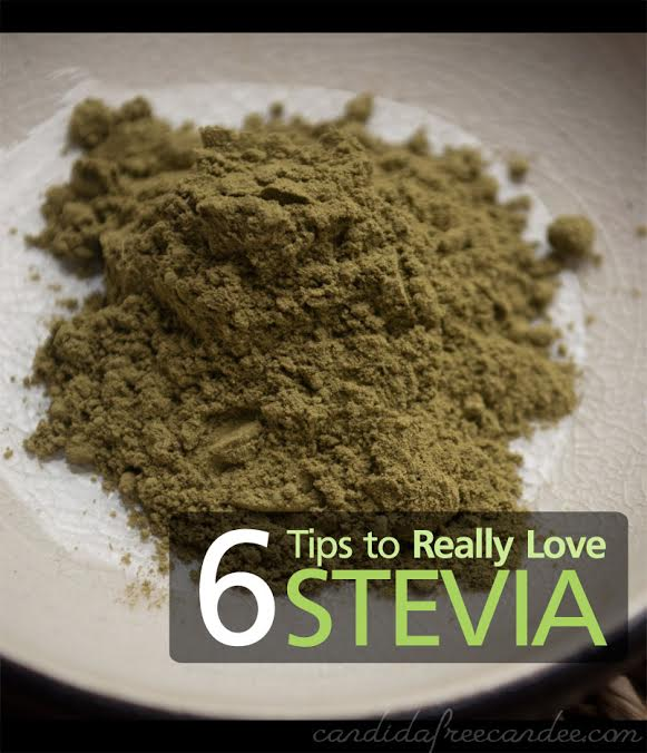 green stevia herb powder in a bowl