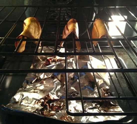 Grain Free Taco shells toasting in oven