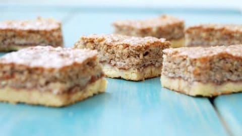 These Gluten Free Cookie Bars are a great healthy dessert - made with fruit and nuts.