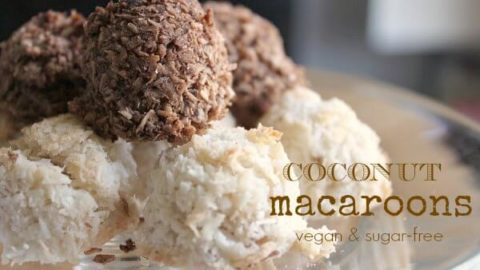 Are you looking for a healthy dessert? These Vegan Macaroons are Egg and Sugar Free! We LOVE macaroons but almost all of them have eggs as a main ingredient and my son is allergic to eggs. So there are perfect :)!
