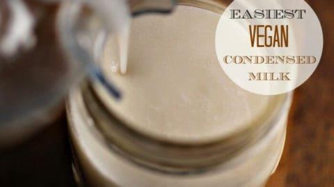 Easy Vegan Condensed Milk - Make it in a flash for all your vegan dessert needs!