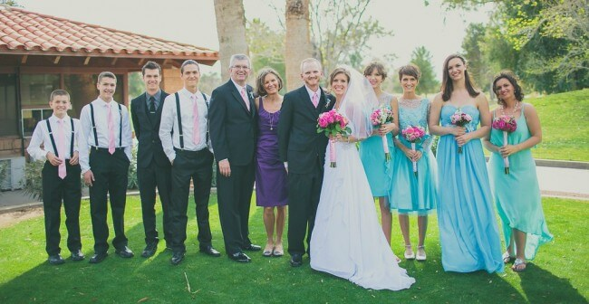 Chris Fabry and Andrea Fabry's family - wedding photo