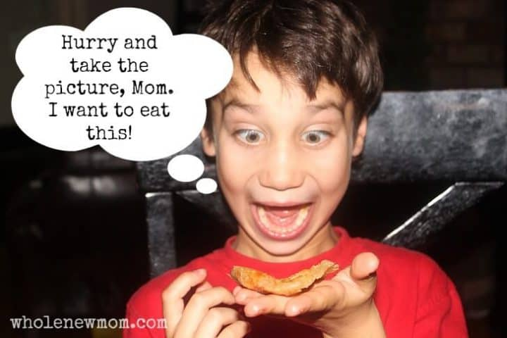 Kids eating Paleo Pizza Pizza Crust