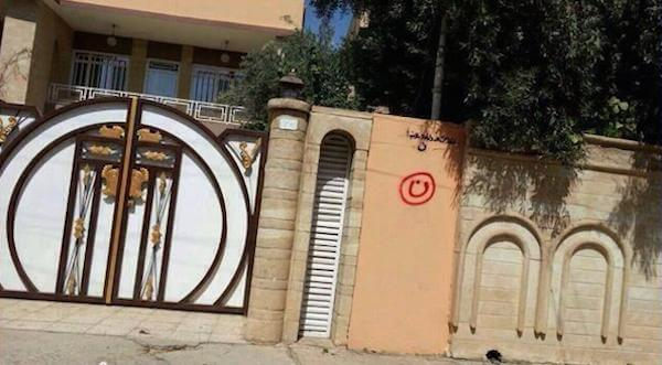 "Iraqi Christians Homes and Businesses are Marked by ISIS with an ""N"" for Nazarene - a perjorative Arab word for Christians"