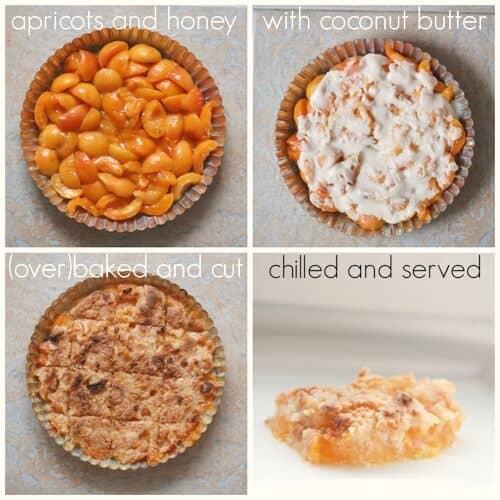3 Ingredient Apricot Fruit Crisp - paleo and vegan