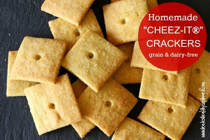 "Grain-free and Dairy-free ""CHEEZ-IT®"" CRACKERS! A yummy healthy treat you can feel good about eating! Low Carb and guilt free, I bet you can't eat just one!"