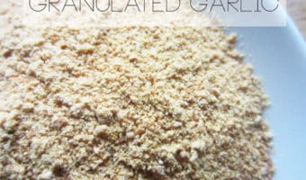 Easy Homemade Granulated Garlic - Tired of garlic going bad on you? Use this simple method to make granulated garlic and stop wasting money and food!