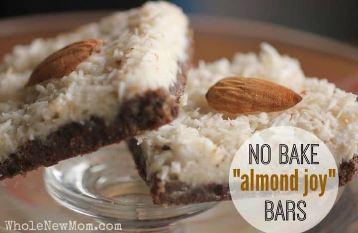 "Got a sweet tooth but trying to eat healthier? These No Bake Dessert Low Carb ""Almond Joy"" Bars are soooo good - even non healthy eaters love them. Every time I make them they are gone lickety split and they're full of healthful ingredients like coconut oil, nut or seed butters, and more. Enjoy the healthy grain free goodness! #paleo #lowcarb"