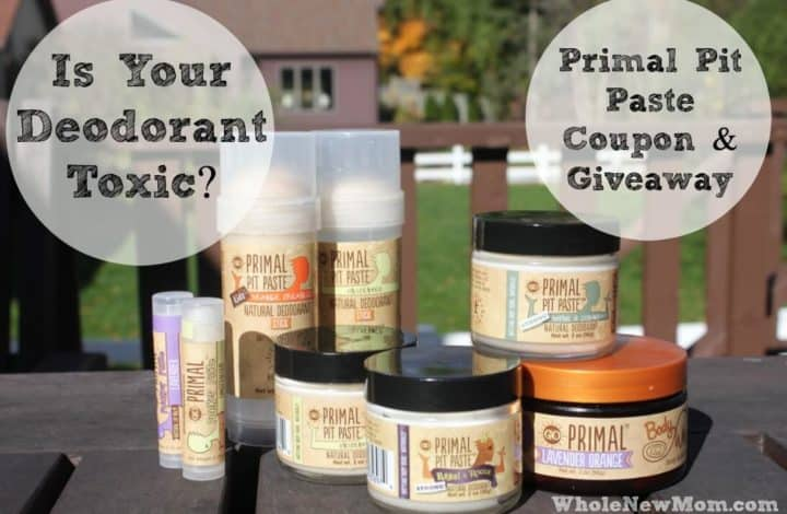 Find out why you should switch to a natural deodorant plus enter the Primal Pit Paste Giveaway and get a coupon to boot!