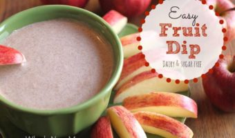 Easy Fruit Dip - Low Carb and Dairy and Sugar Free. Great as a drizzle, a dip, or eaten right off the spoon.