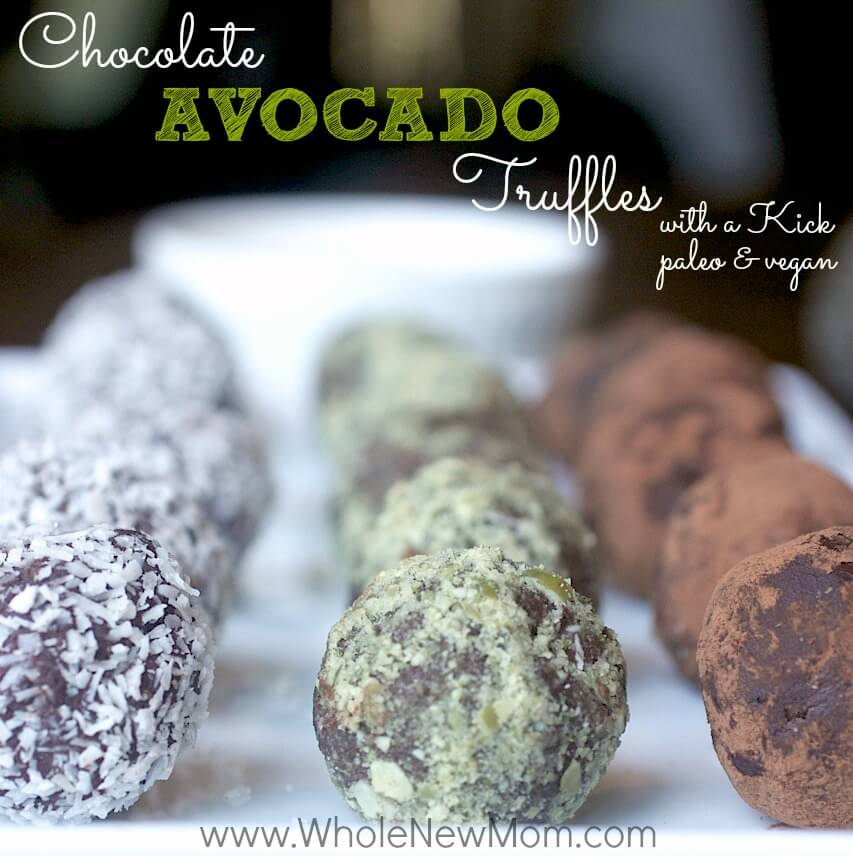 These paleo & vegan easy healthy chocolate avocado truffles are sure to become a favorite in your home. Warning - they are quite addictive!