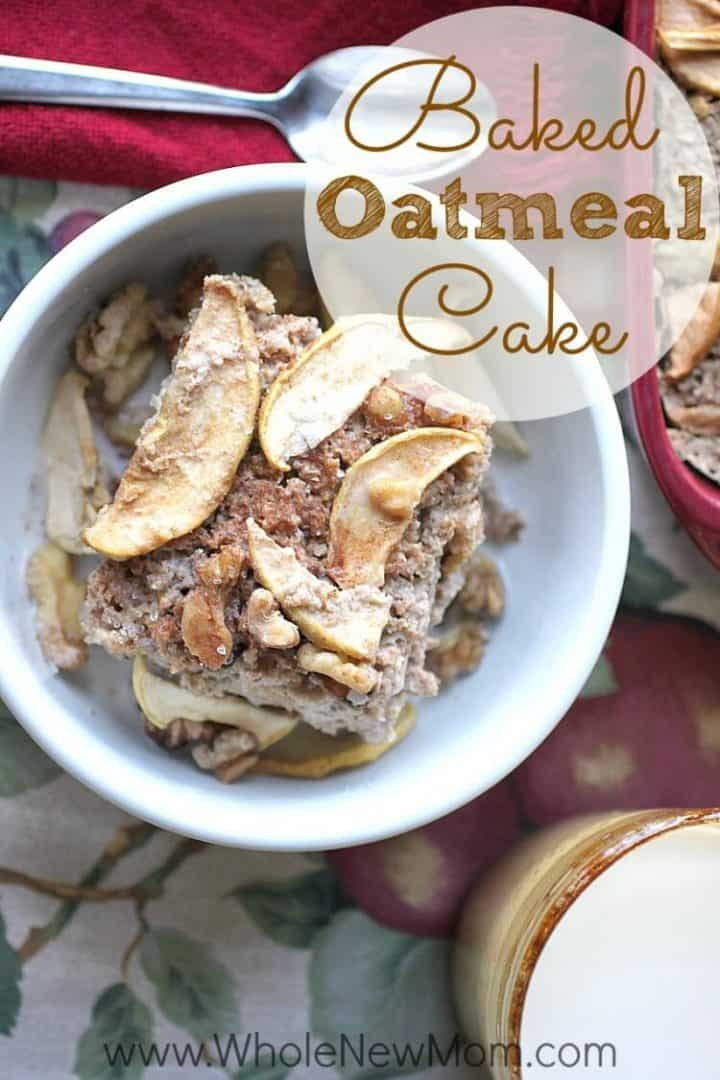 Need a healthy, easy breakfast? This Baked Oatmeal Cake can be started the night before and finished in the morning and it is flourless, refined sugar free, with an egg free and dairy free option. One of our family favorites!