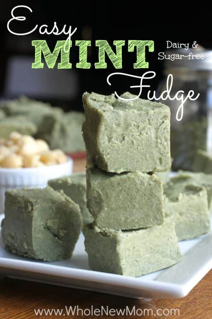 Secret-Ingredient Mint Fudge - vegan and sugar free