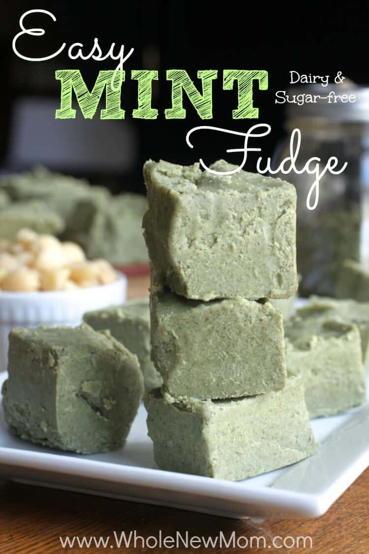 In need of a healthy dessert? This Easy Mint Fudge Recipe is naturally colored with a secret ingredient and loaded with healthy ingredients like coconut oil, plus it's dairy and sugar free too. It's naturally paleo and low-carb to boot.
