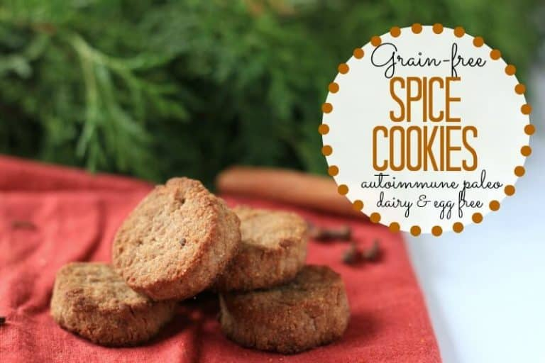 Looking for healthy dessert recipes? If you or someone you love is on a special diet, these paleo cookies are perfect. They are even suitable for the autoimmune paleo diet and are a vegan cookie recipe as well. The flavor is perfect for the holidays, or anytime you want a healthy treat.