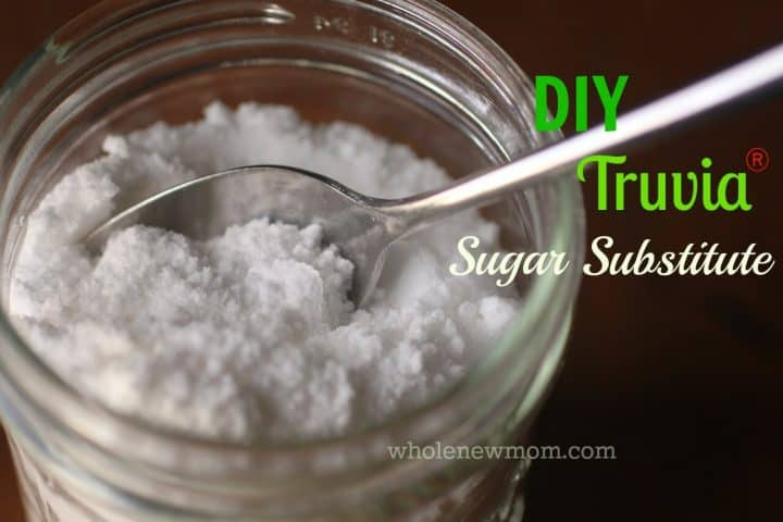 "If you're on a low carb diet this DIY Sugar Substitute Recipe like Truvia is a great way to save money and avoid the additives in the store bought brand. There are ""natural flavors"" in the Truvia that I would rather avoid for sure."