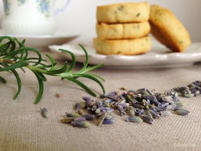 Lavender Rosemary Butter Cookies