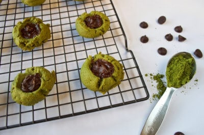 Green Tea Thumbprint Cookies