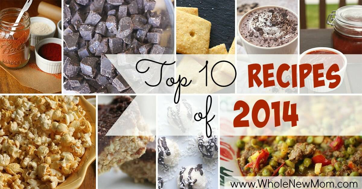 Top Recipes from the Blog Whole New Mom. From Homemade Ketchup to No Bake Cookies to Homemade Chocolate Chips. Most are paleo recipes, and all are gluten free.