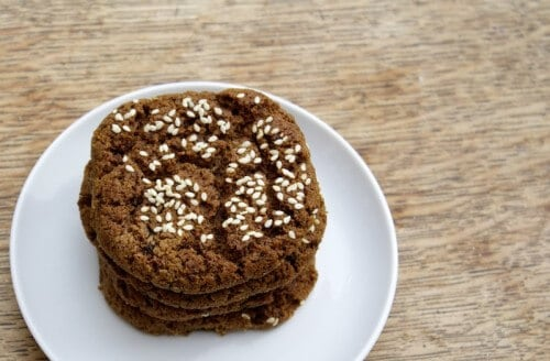 Tahini Molasses Cookies