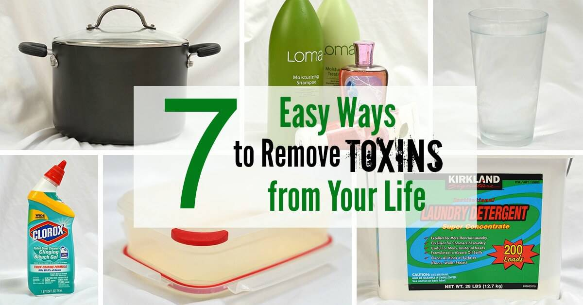 Want to have a healthy lifestyle? Heard about the dangers of plastics, non stick cookware, and chemicals? Here are 7 Easy Ways to Remove Toxins from your life.