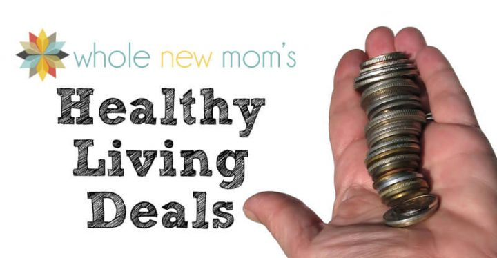 hand holding coins - healthy living deals from whole new mom
