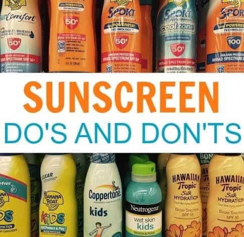 Did you know these facts about sunscreen, spray sunscreen, and SPF's? If you're going to be out in the sun this summer, make sure to read these Sunscreen Safety Tips to have fun without the risk.