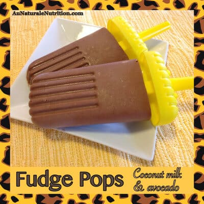 two fudge pops on a plate