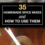 collage of homemade spice mixes including chat masala and herbes de provence