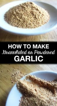 Does your garlic spoil before you use it all? Here's how to Easily Make Homemade Garlic Powder or Granulated Garlic!!