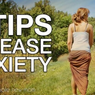 woman walking in the grass for tips to ease anxiety post