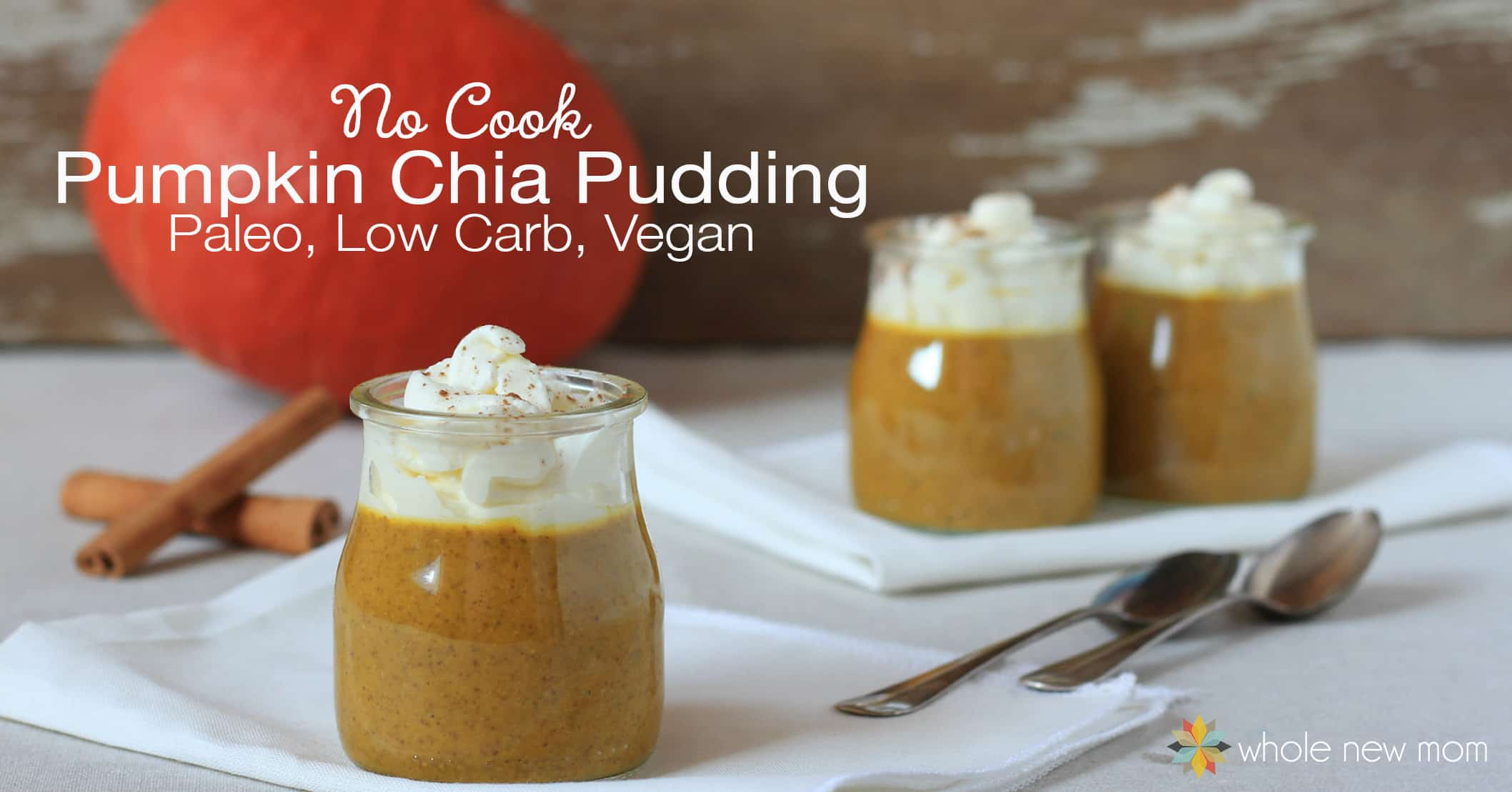 Here's a pumpkin pudding you can feel very good about serving to your family for breakfast, dessert, or really any meal. It's loaded with nutrients like vitamins A and C, potassium, fiber, and more! It's also low carb, paleo, vegan, grain-free, dairy-free, and gluten-free.