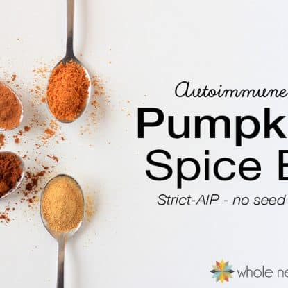 Just because you're strict AIP doesn't mean you can't enjoy pumpkin pie spice flavored treats! This blend replicates the flavor you love with autoimmune protocol friendly spices.