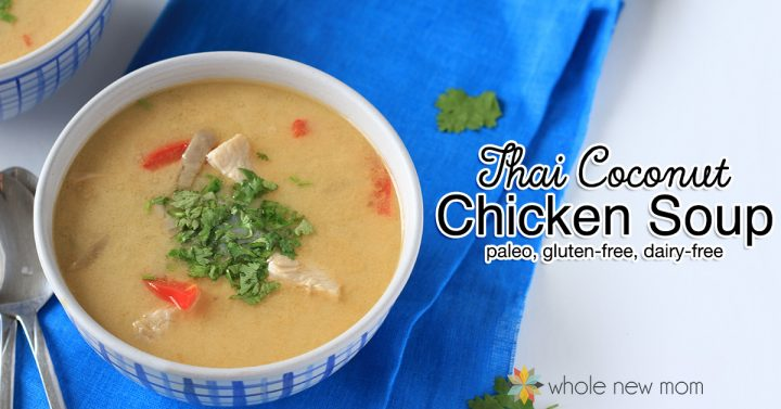 This Low Carb Thai Chicken Soup is a great one-pot meal to warm you inside out this winter! It's paleo, gluten-free, and dairy-free too!