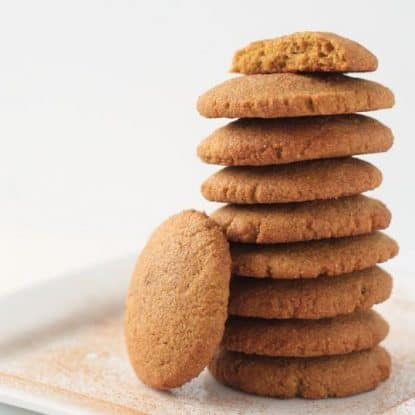 Looking for Healthy Cookie Recipes or Allergy Free Cookies? These Pumpkin Snickerdoodles are Gluten-free, Dairy-free, Egg-free and Sugar-free. My boys LOVE them. In fact, whenever I talk about making cookies they ask for these! If you love snickerdoodles, you'll love these.