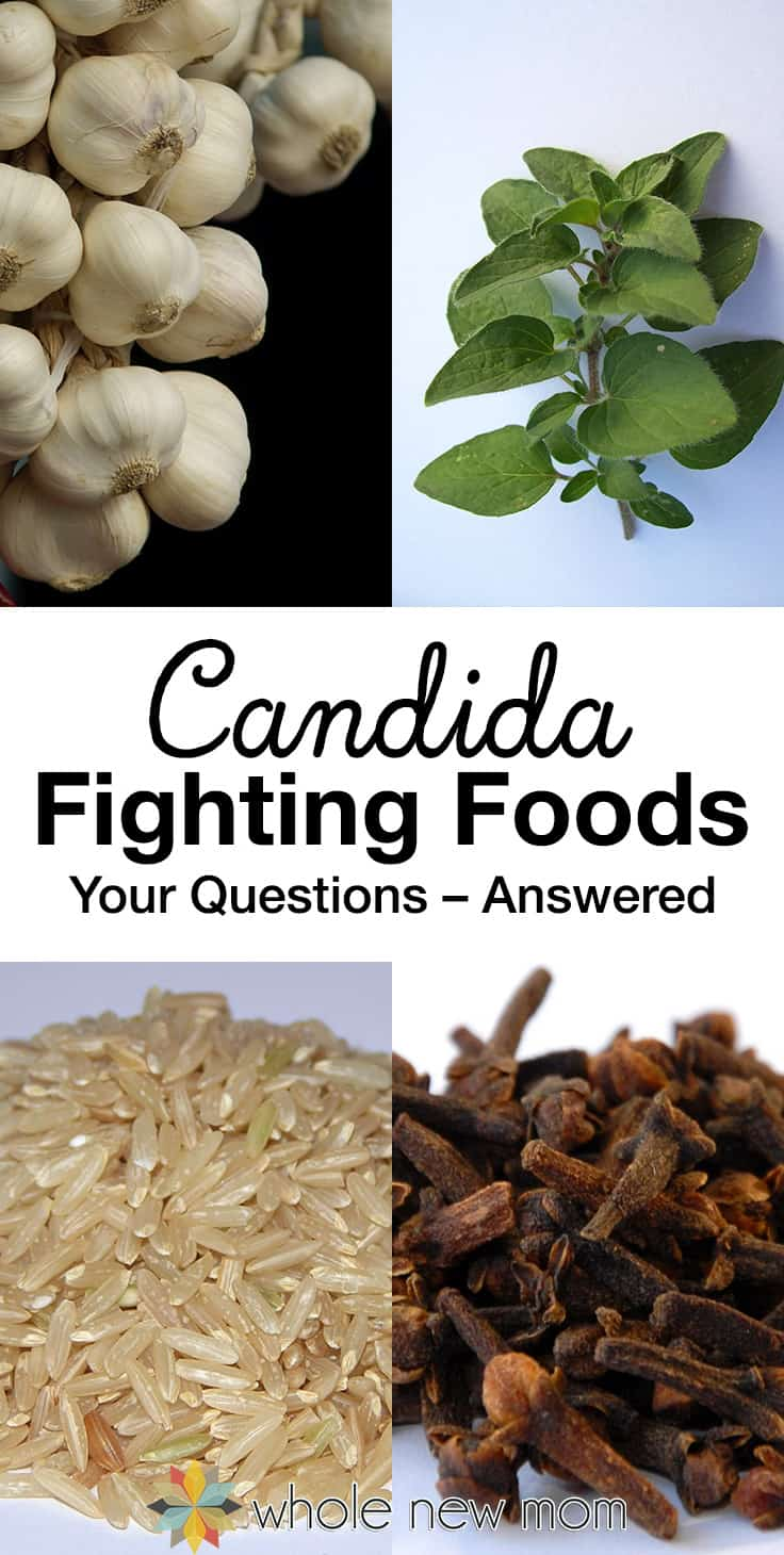 Candida Fighting Foods - garlic, oregano, brown rice, clove
