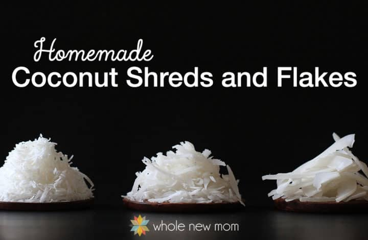 Coconut is VERY healthy for us – and extremely versatile for dairy-free and grain-free recipes! But, it can get expensive. Here's how to make your own coconut shreds and flakes to save money and stay healthy! There's no sugar added, great for low-carb and grain-free baking.
