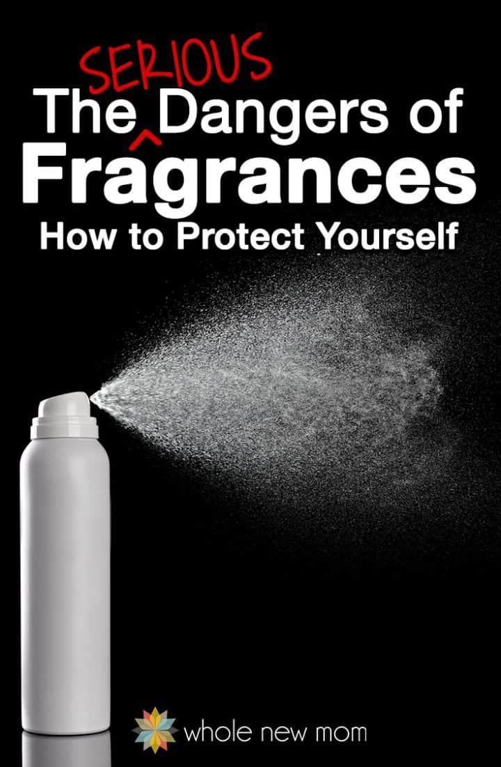 white bottle spraying a substance for fragrance dangers article