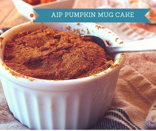 AIP Recipe Pumpkin Mug Cake